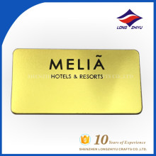 Name plate manufacturer supply golden casting name plate