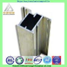 Chile market windows aluminium profile of powder coated, anodized black and anodized bronze