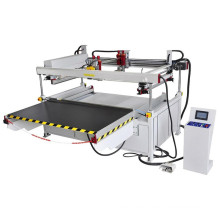 Tmp-120240 Impresora de pantalla de vidrio semiautomática grande de 4 pilares