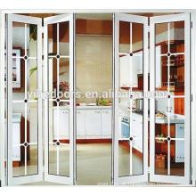 Interieur-Falttüren aus Aluminium-Akkordeon Low-E-Glas Interieur-Falttor aus Aluminium-Accordion Low-E-Glas