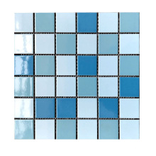 Foshan 3d swimming blue pool glass tile anti slip ceramic pool tile