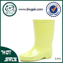 ПВХ дождя сапоги женщин водонепроницаемый ПВХ дождя сапоги