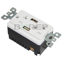 BAS20-2USB 5VDC 4A electric switched usa usb wall adapter