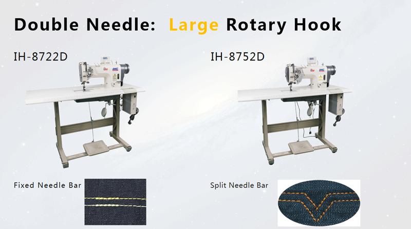 Large Hook Double Needle Sewing Machine