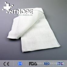 Rolo absorvente branco da gaze do algodão 19x9 100 gaze Nonsterile da compressa da esponja 2x2 3x3 4x4