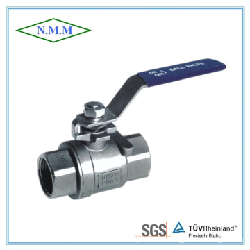 2PC Stainless Steel Screwed DIN Ball Valve in 1000wog