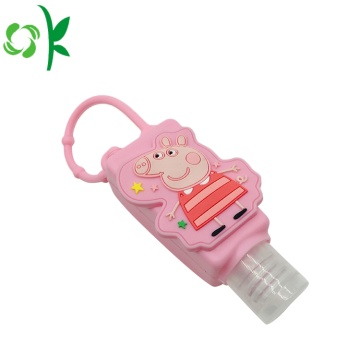 Silikon Botol Kosong Mini Hand Sanitizer Holder Disesuaikan