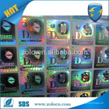 Alta calidad Anti-falsificación 3D punto matriks holograma pegatinas