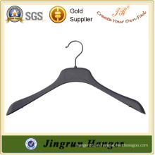 Nueva producción de China percha de plástico negro ropa suéter percha