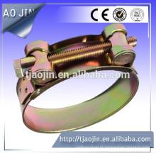 Revestimento amarelo para braçadeira de mangueira de zinco