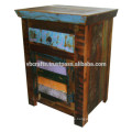 recycle wood bed side night stand