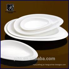 P & T fábrica direta porcelana servindo prato, placa oval para hotéis