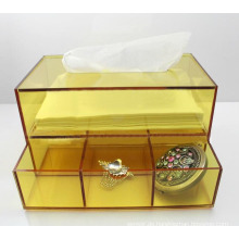 Gelber Acryl Tissue Box Serviette Box Lucite