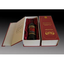 Top Grade Paper Wine Packaging/PU Paper Cardboard Wine Packaging (MX-092)