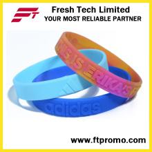 Fashion OEM Silicone Wristband with Embossed Logo