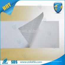 Unsichtbares zerstörbares Etikettenpapier von ZOLO