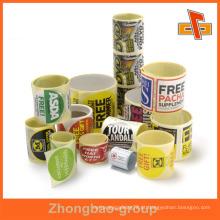 Guangzhou fabricante de impressão por atacado e material de embalagem adesivo ketchup adesivo personalizado