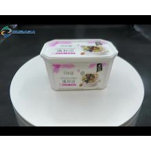 Contenant de beurre d'emballage alimentaire en plastique laitier de 16 oz