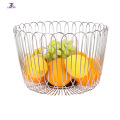 Stainless steel contracted fruit and vegetable hollow out round basket sitting room fruit tray wire mesh basket