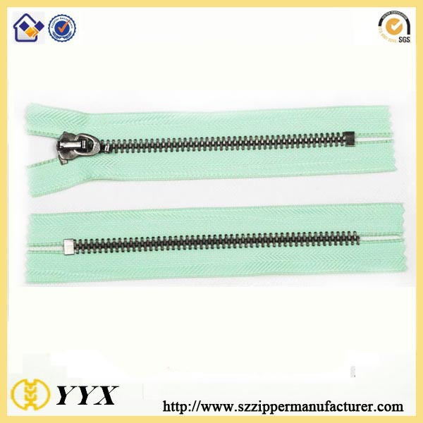 two way type metal zipper