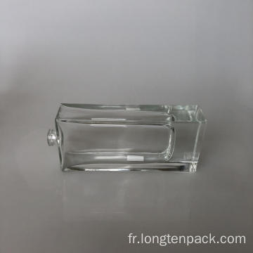 Bouteille de verre rectangle3 65ml