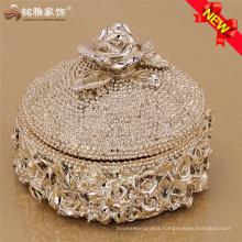Ladies pearls jewlery storage holder resin vase with cover