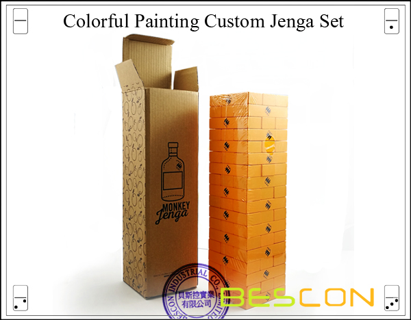 Colorful Painting Custom Jenga Set