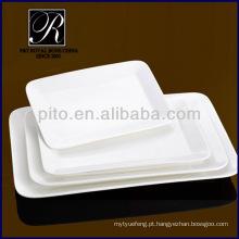 P & T fábrica de porcelana, cerâmica placas retangulares, placas de carne, placas duráveis PT-1152