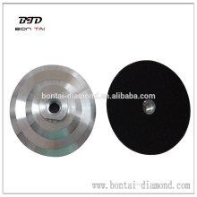 Aluminum backer pad for flexible polishing pads hot sale