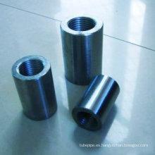 45# acero al carbono sólido Rebar conexión manga, barra de acoplamiento (Dia.14 - 40mm)