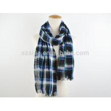 Moda mens lenço de algodão xadrez