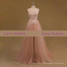 LSM003 appliques pattern prom dress dubai heavy evening dresses fish dresses