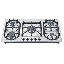 Cocina de gas de acero inoxidable incorporada