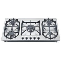Cocina de gas empotrable de acero inoxidable