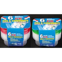 Rectangular Plastic Take Away Microwavable Recipiente para Alimentos 9.5oz