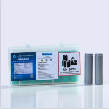 Baterias cilíndricas 3V BR18650 de Li-fluorocarbono de alta capacidade, utilizáveis para alimentação portátil