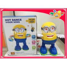 Heiße verkaufende elektrische Tanzen-Minionsspielwaren mit hellen Musik-Minionsspielwaren