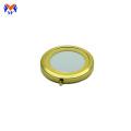 Metall benutzerdefinierte gold faltbare Paket Kosmetikspiegel