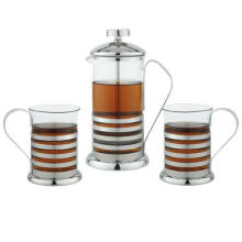 High Quality Stainless Steel Teapot French Press Coffee Maker