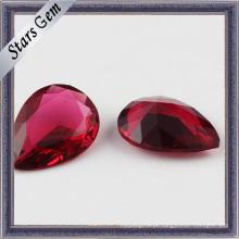 Pera Ruby Shinning CZ Gemstones