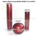 30ml 50ml forme carrée rouge bouteille vide de crème 50ml boule Sha