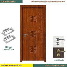 Puerta de madera pura de la puerta del PVC del retrete de la puerta del PVC