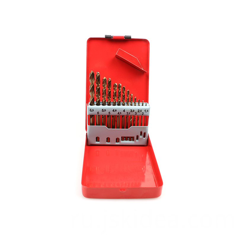 13 Pcs Drill Bits Set Metal Box