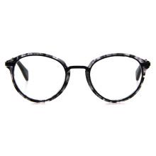 Hot Selling Custom Logo Unisex High Quality Metal Bridge Oval Vintage Style Eyeglass Frame Optical Acetate