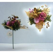 Décorations décoratives en plastique décoratives en or rose