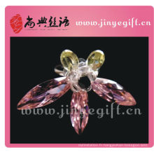 Bague papillon en strass cristal couleur rubis