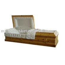 produit d'enterrement crémation sapin massif cercueil en bois