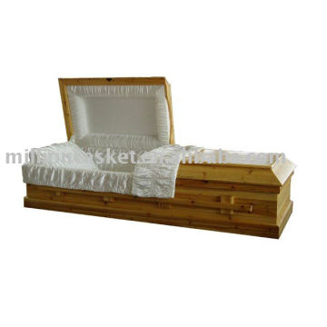 cremation solid fir wooden casket funeral product