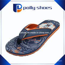 Men EVA Strap Sandals Grey Red Flip Flop