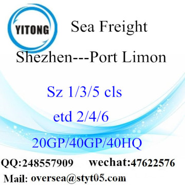 Shenzhen Port Sea Freight Shipping ke Port Limon